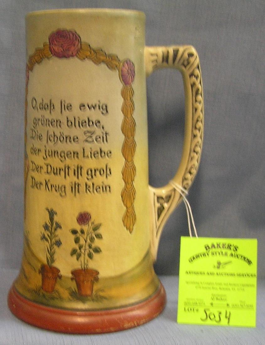 Early German Beer stein less cover