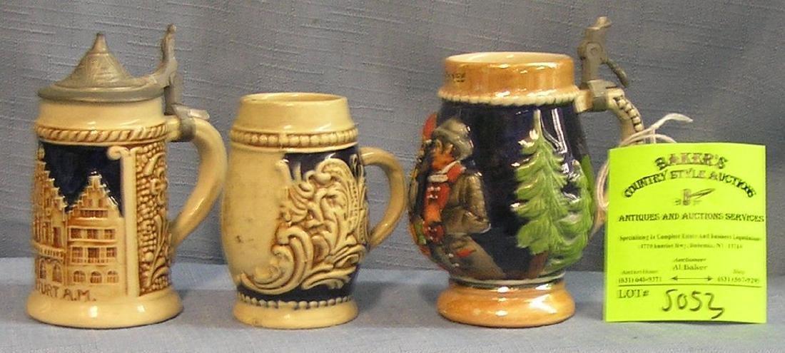 Group of three vintage German Beer steins