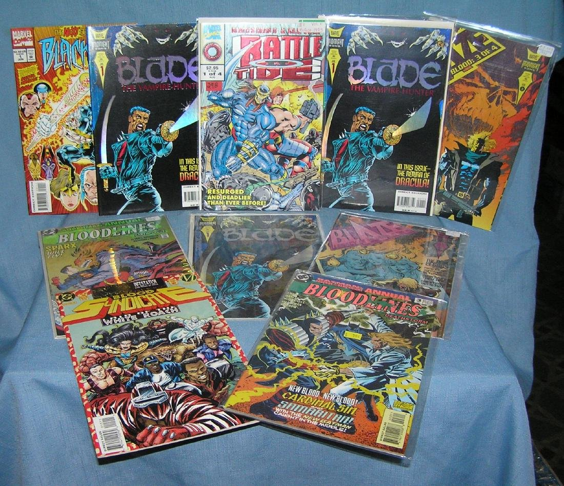 Collection od vintage Marvel and DC comic books
