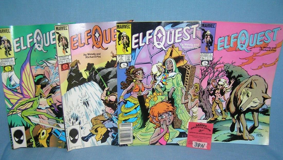 Group of vintage Marvel Elf Quest comic books