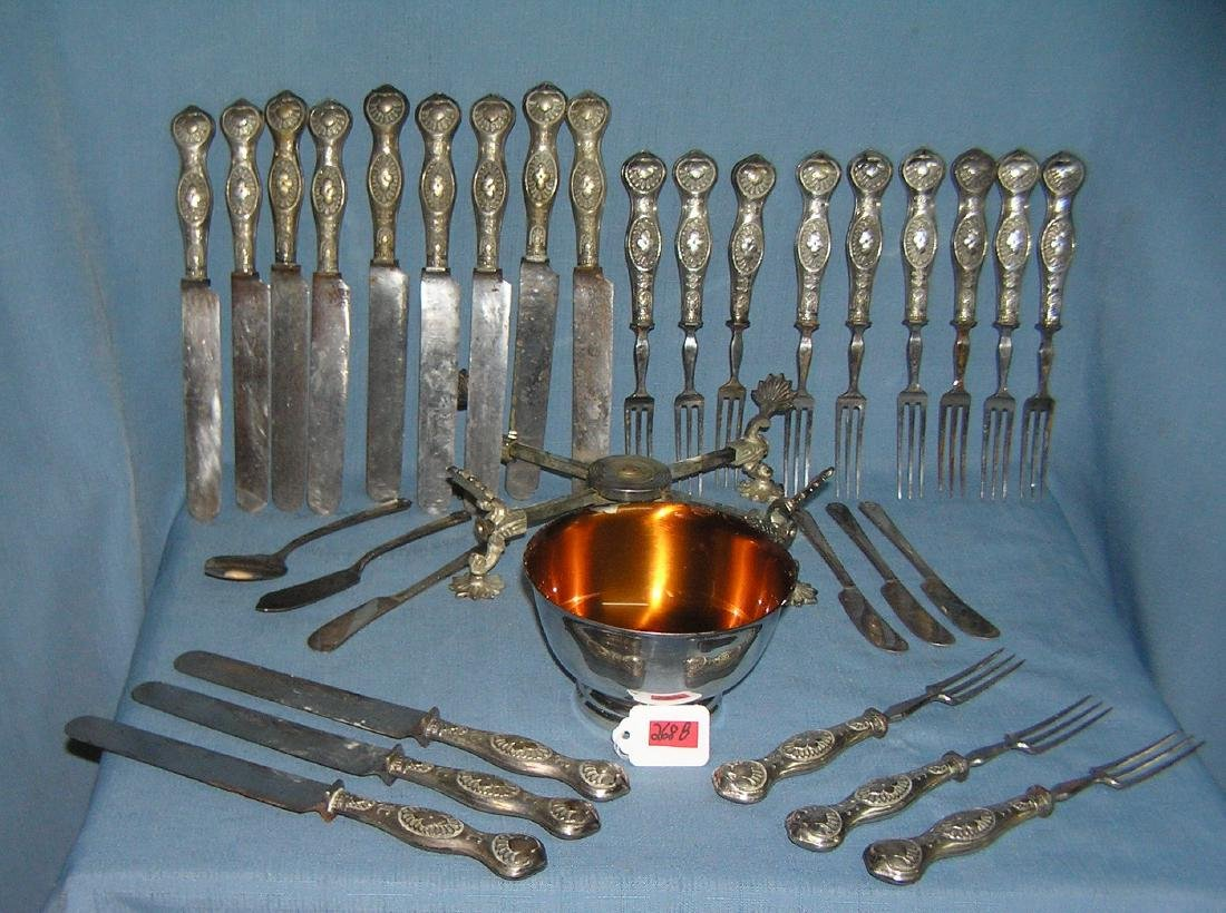 Quality silver plated flatware and accessories