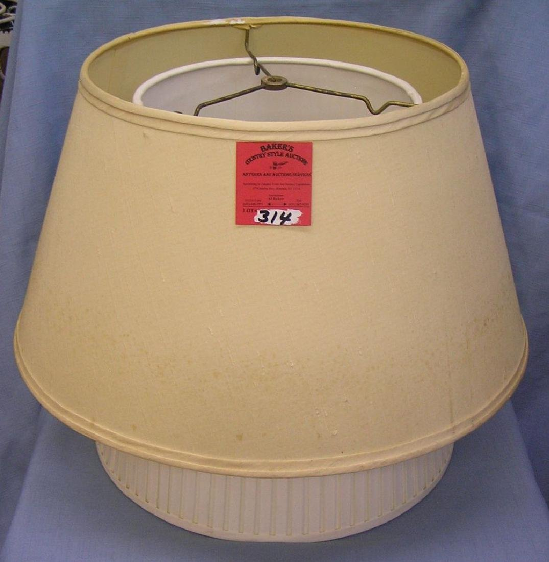 Group of four vintage lampshades one silk
