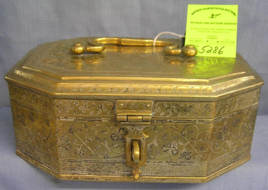 High quality solid brass desk caddy