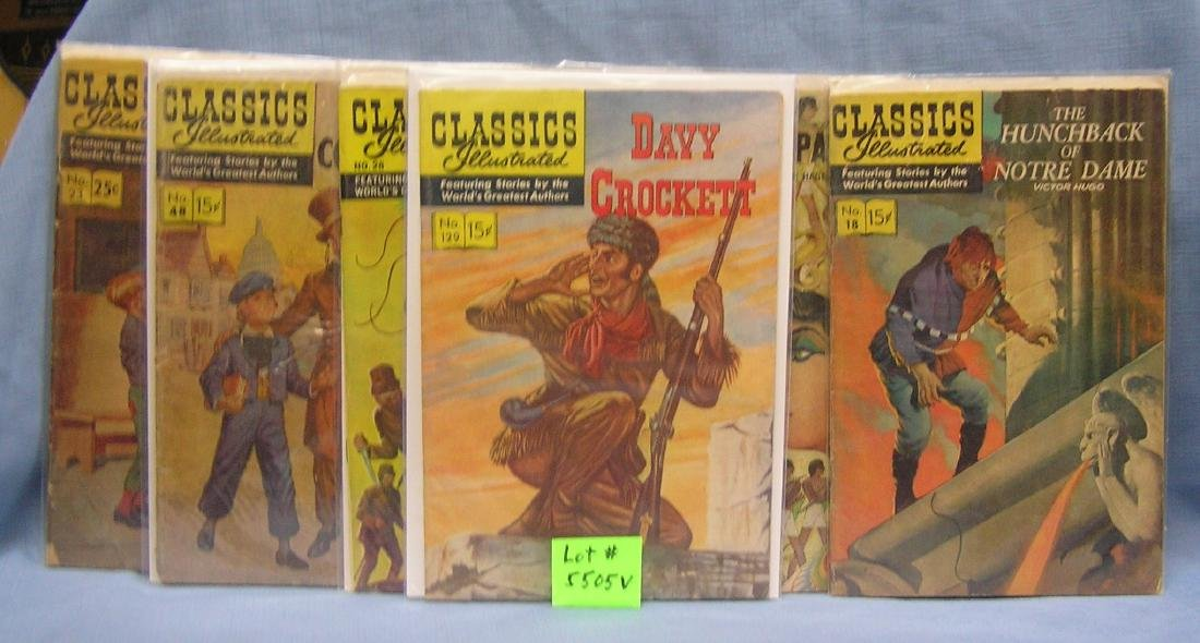 Group of early Comics illistrated comic books