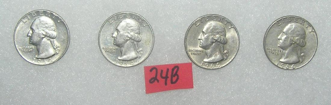 Group of vintage silver Washington quarters