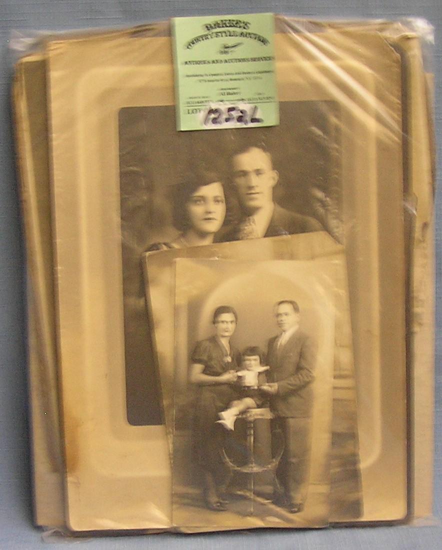 Group of antique photos including studio photos