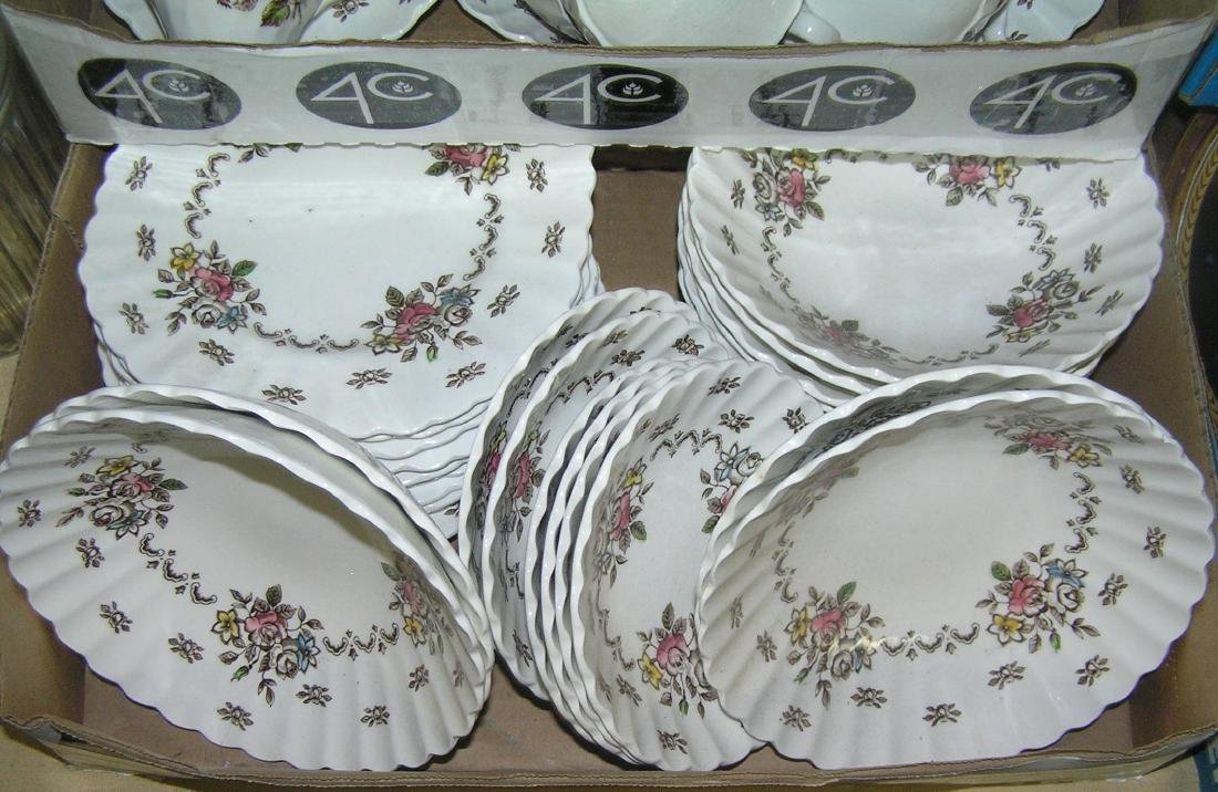 70 piece English Staffordshire dinnerware set