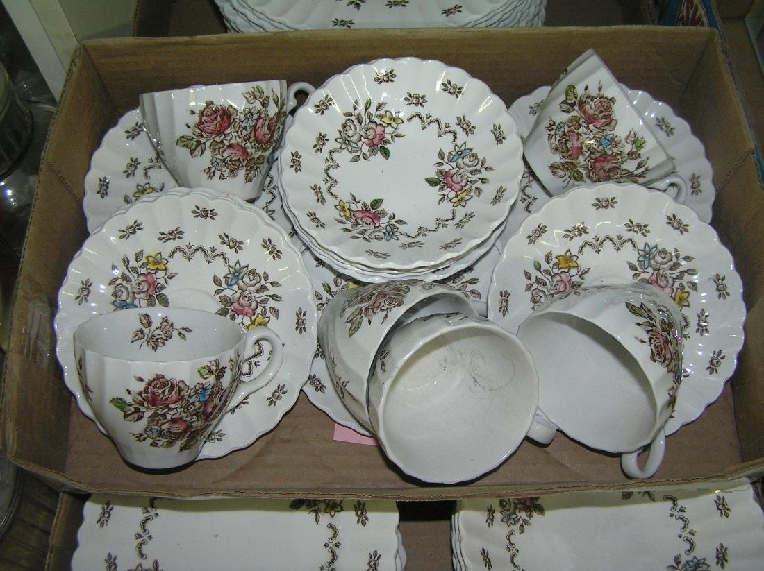 70 piece English Staffordshire dinnerware set - 2