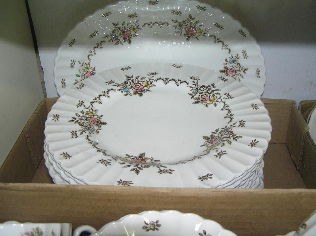 70 piece English Staffordshire dinnerware set - 3