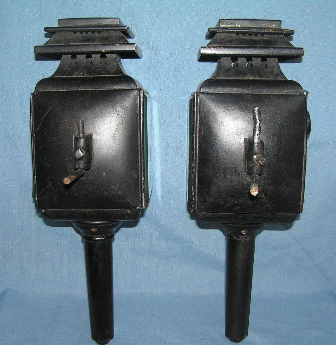 Pair of antique carraige lamps