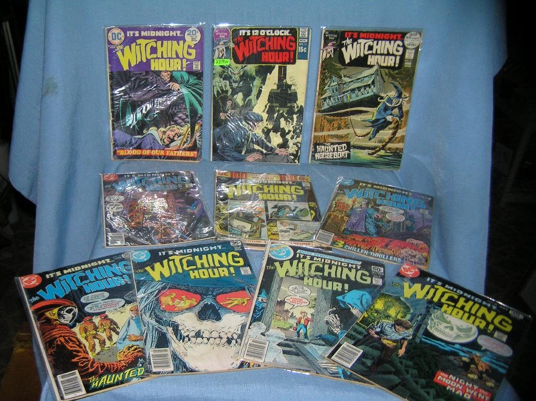 Collection of witching hour horror comic books