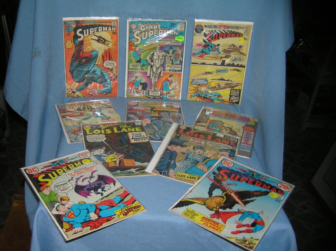 Vintage Superman and related comic books