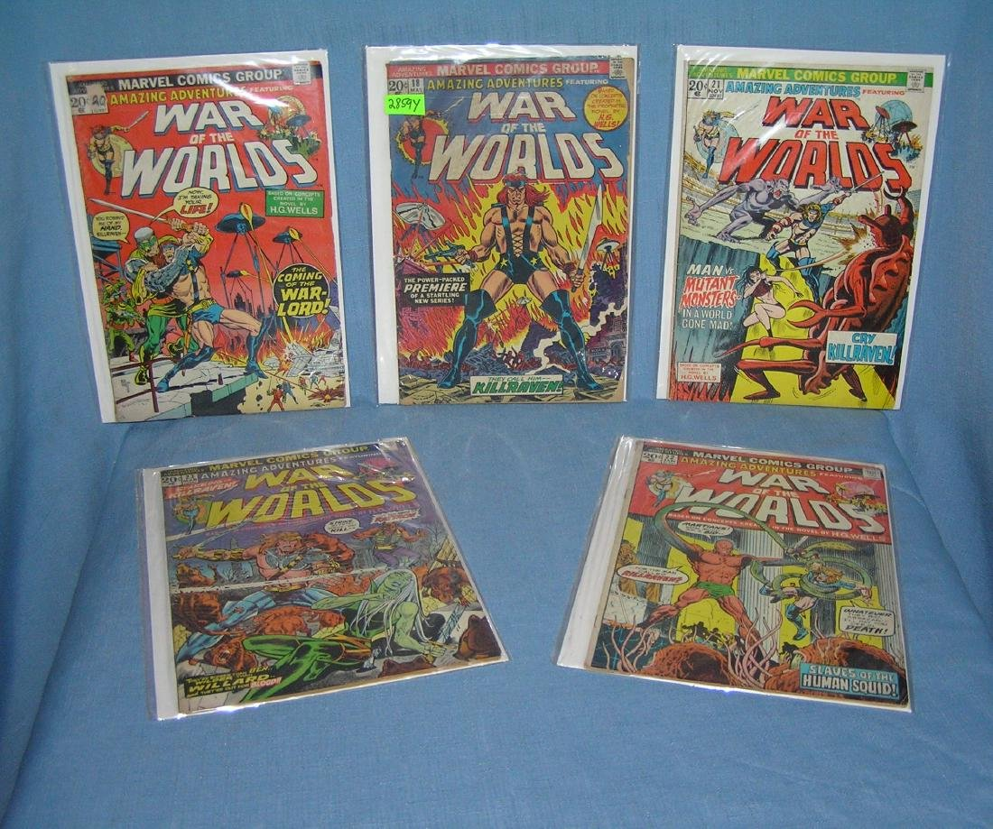 War of the Worlds group of early comic books