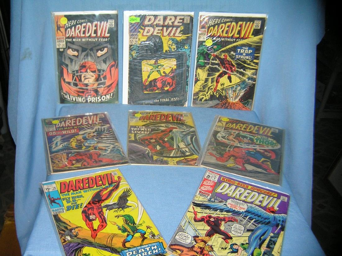 Group of early Dare Devil comic books
