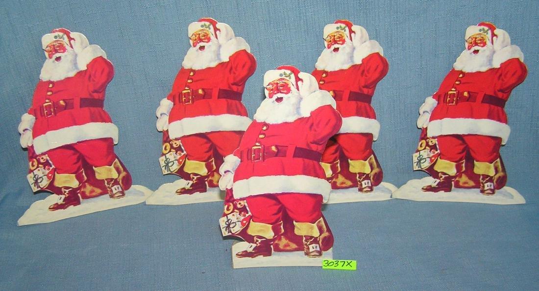 Santa Claus Christmas club advertising displays