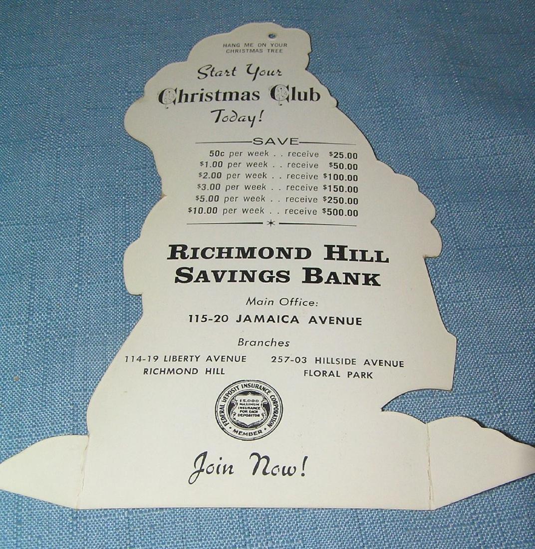 Santa Claus Christmas club advertising displays - 2