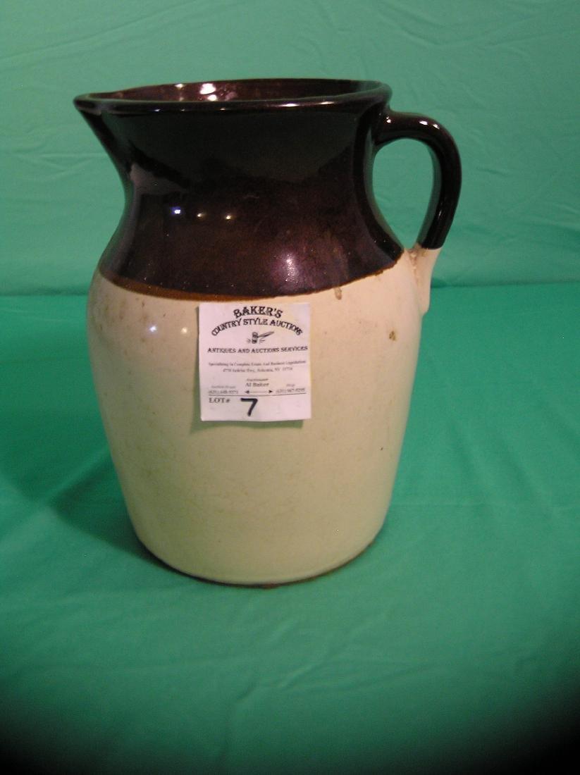 Large antique art pottery pitcher