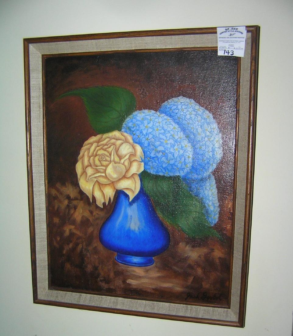 Vintage oil on board framed painting