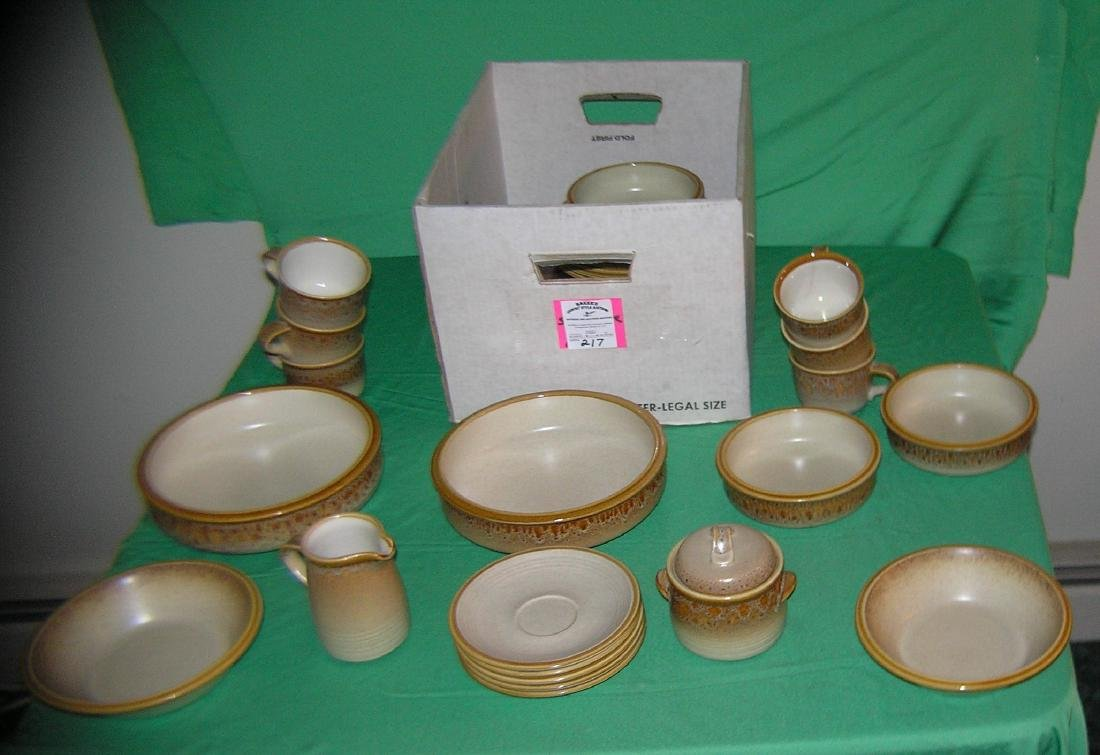Large box full of Mikasa oven to table dinner ware