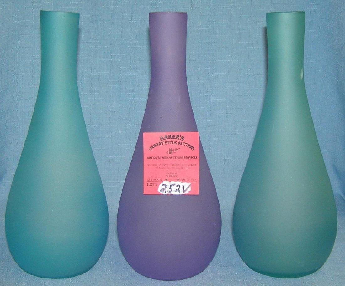 Group of modern art glass vases