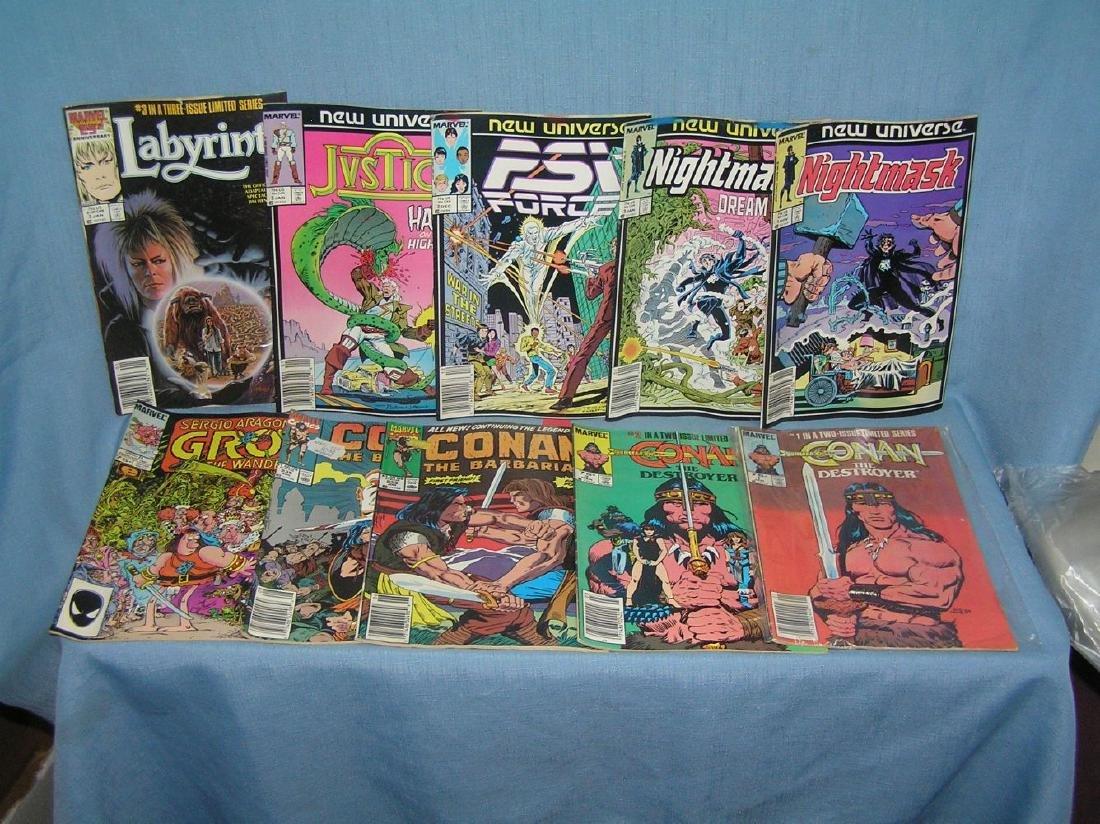 Group of 10 vintage Marvel comic books