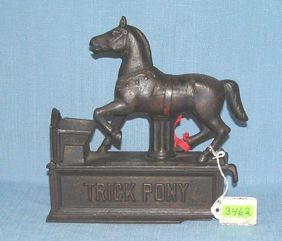 Antique Trick Pony mechanical bank