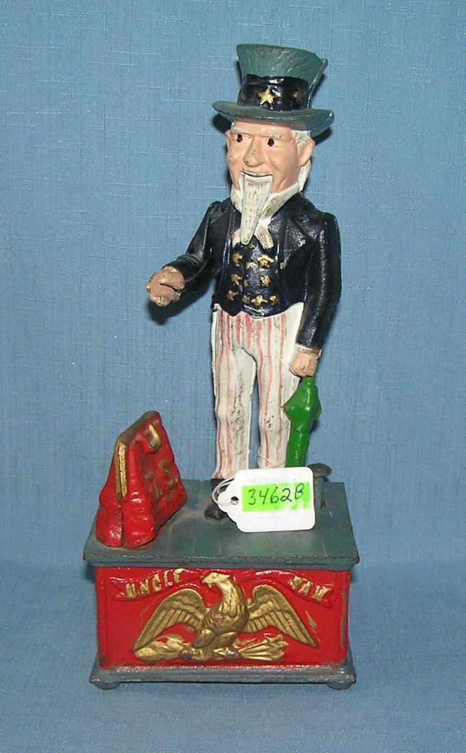 Vintage Uncle Sam mechanical bank