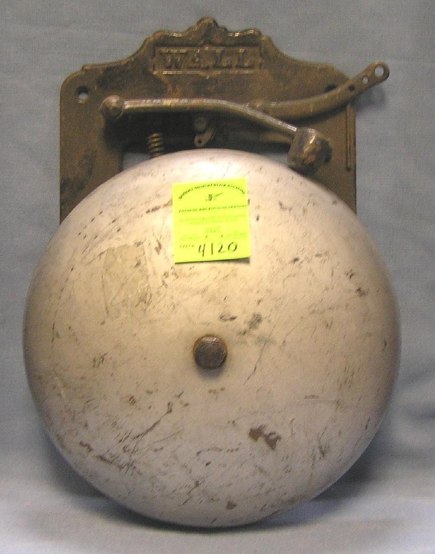 Antique Wall fire house call bell
