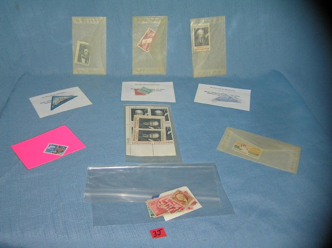 Collection of US postage stamps
