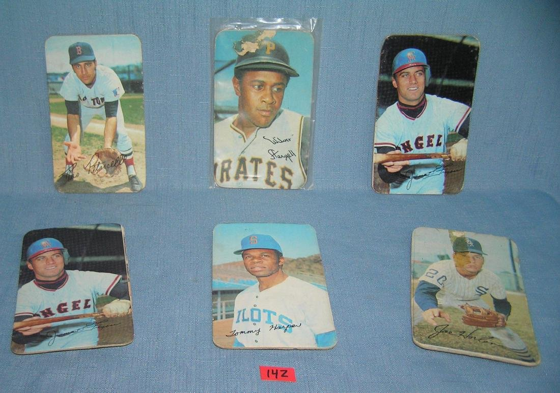 Collection of 1970 Topps oversized all star baseball