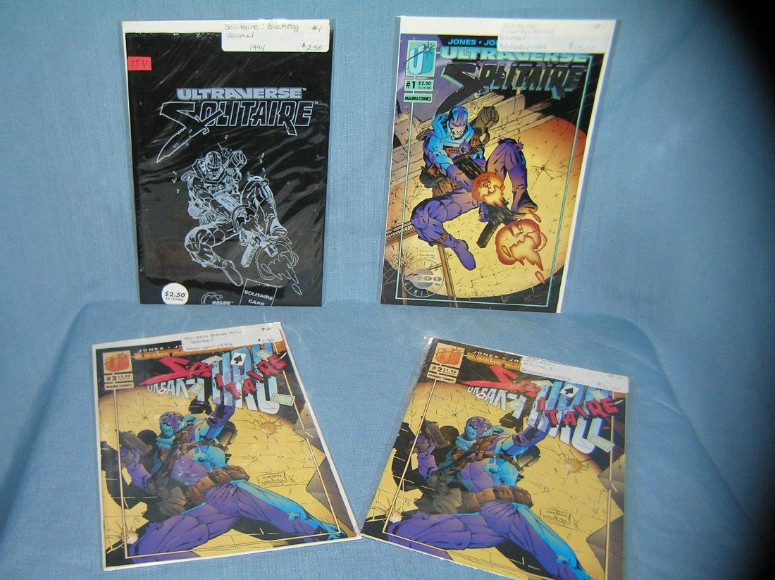 Group of vintage Solitaire comic books