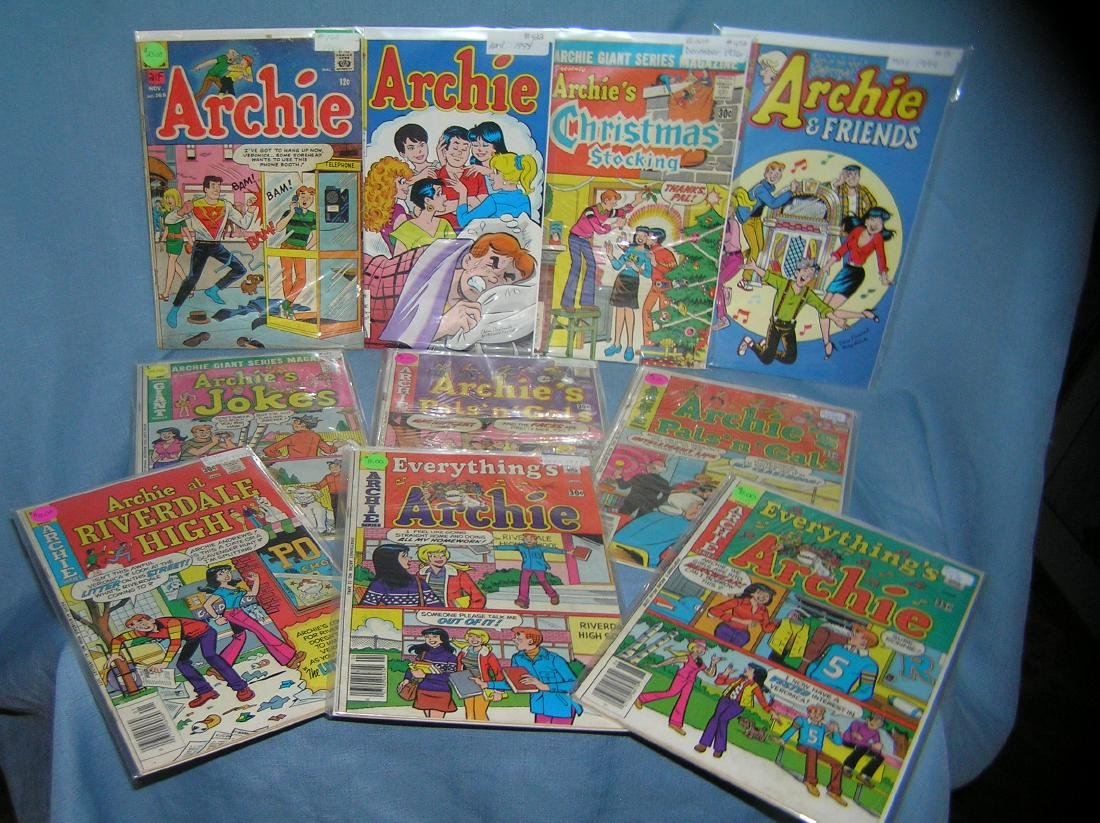 Collection of early Archie comic books