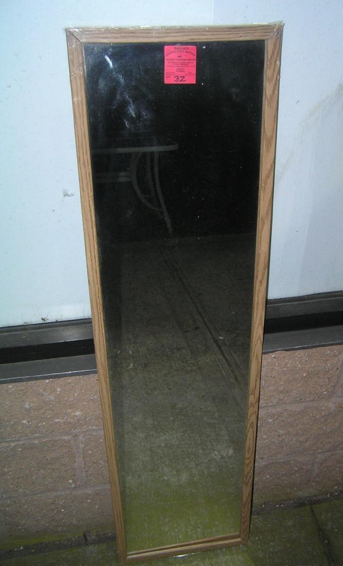 Wall/closet framed mirror