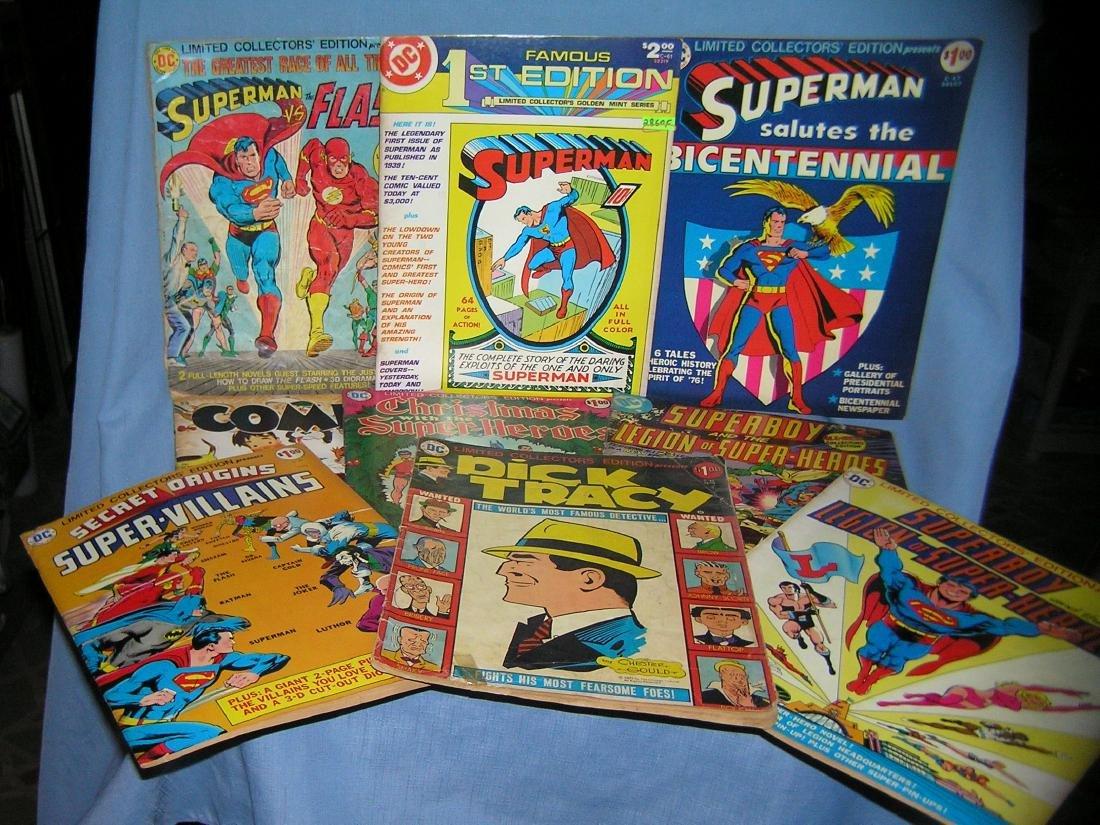 Large Group of vintage oversized comic books