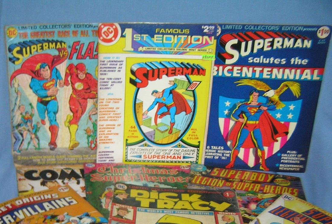 Large Group of vintage oversized comic books - 2