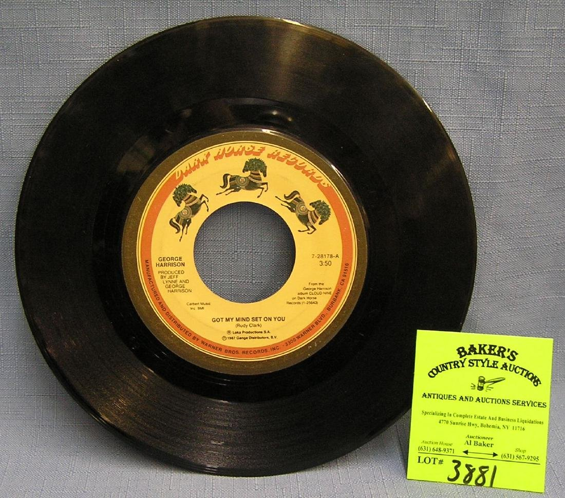 Vintage George Harrison 45 rpm record