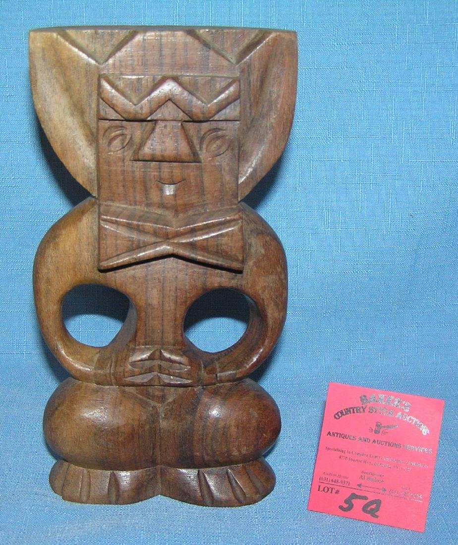 Hand carved wood figure