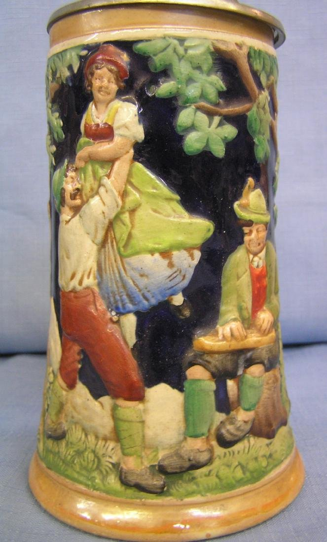 Group of 5 vintage beer steins - 4