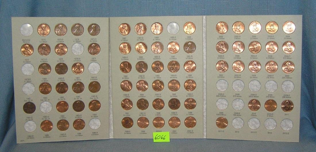 Vintage Lincoln pennies in collectors books - 4