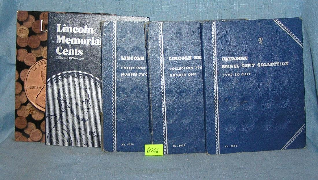 Vintage Lincoln pennies in collectors books - 6