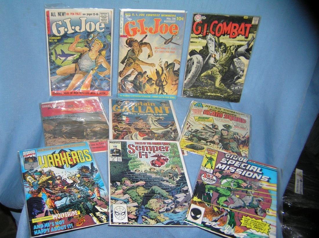 Group of early military themed comic books