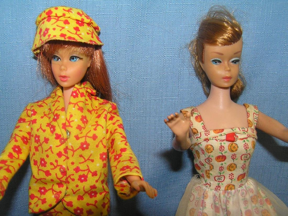 Barbie doll collection featuring 4 vintage dolls and - 4