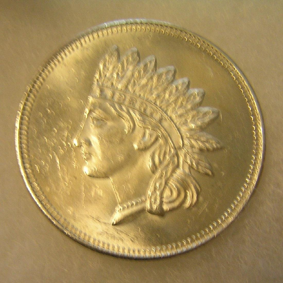 Indian head 1 ounce fine silver commemorative coin