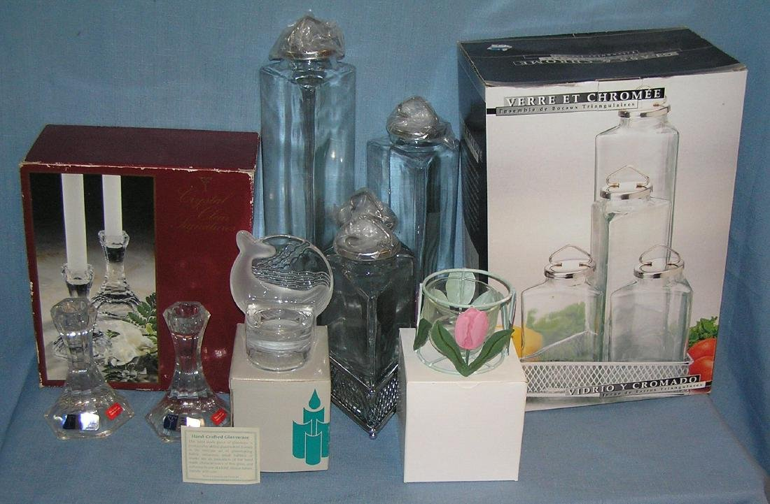 Group of collectible glassware