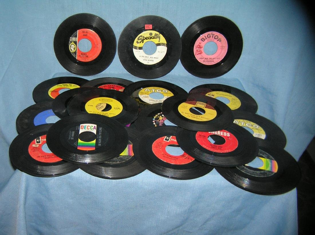 Collection of vintage 45 RPM records - May 03, 2019