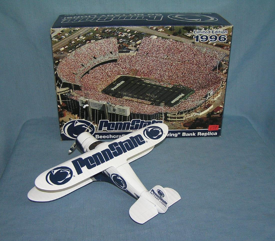 Penn State football Beech Craft B17 airplane bank