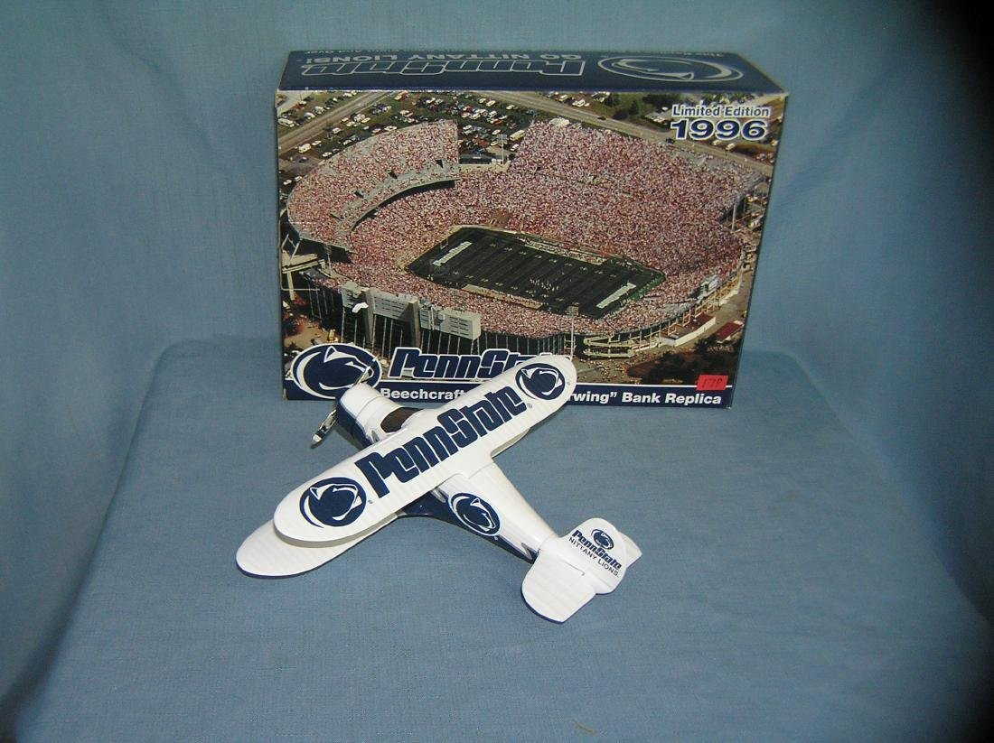 Penn State football Beech Craft B17 airplane bank - 2