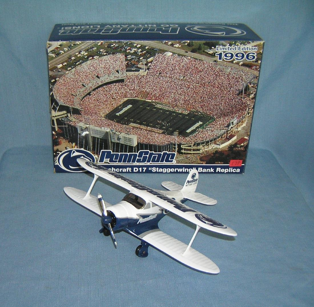 Penn State football Beech Craft B17 airplane bank - 3