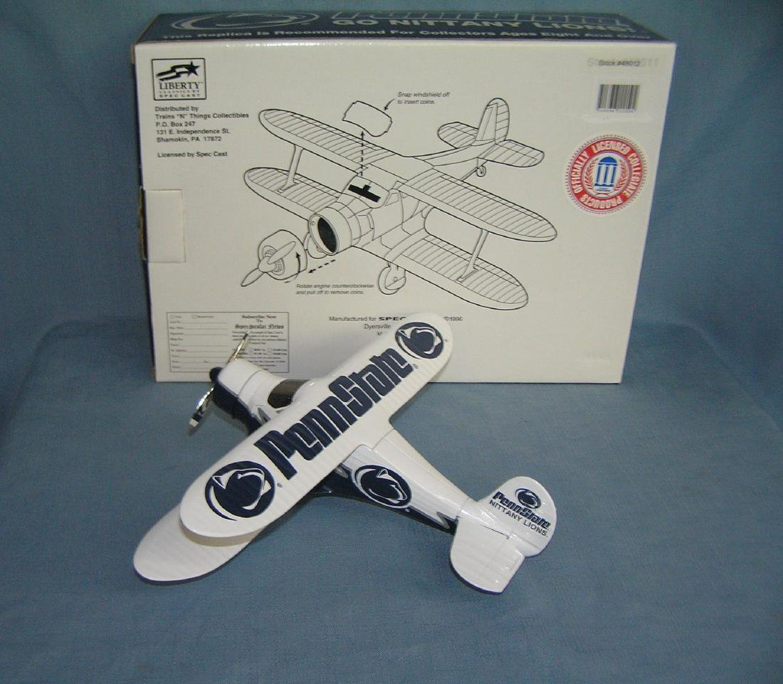 Penn State football Beech Craft B17 airplane bank - 4
