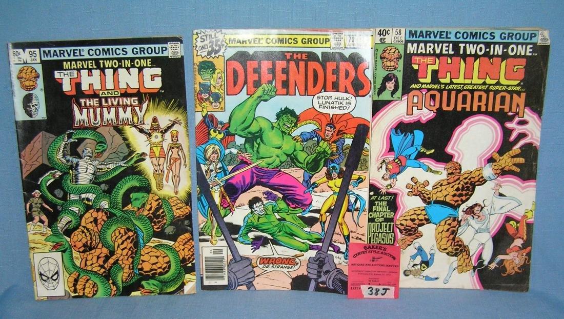 Group of vintage Marvel comic books